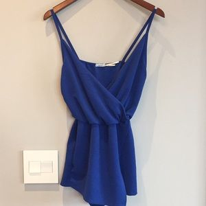 Blue Urban Outfitters Romper with Skirt Front -XS